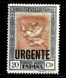 HICK GIRL- BEAUTIFUL MINT SPAIN STAMP  SC#E1  1930  SPECIAL DELIVERY     D608