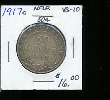 1917  Newfoundland 50 Cents VG TB151