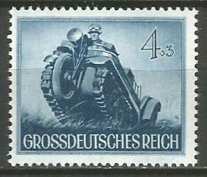 Germany (Third Reich) 1944 MNH WWII Heroes Day Caterpillar Tricar Mi-874 SG-862