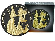 The Allegories 2019 Britannia & Germania 1 oz Silber Black Gold Space Edition
