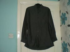 "Shirt Mens""DKNY""80""S 2 PLY Dark Grey Colour Size:15 ½ ,32/33 Used SALE"