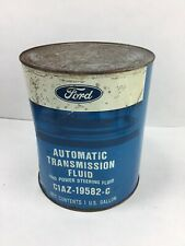 VINTAGE FORD AUTOMATIC TRANSMISSION  POWER STEERING FLUID  METAL CAN  1 Gallon