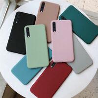 For Samsung Galaxy A70 A50 A40 A30 Slim Silicone Matte Soft TPU Back Case Cover