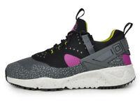 Size 13 NIKE Men AIR HUARACHE UTILITY Shoes 806979 500 Black Gray White Green