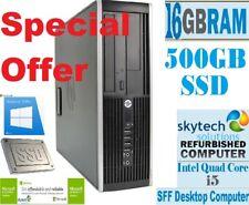 HP Elite 8200 SFF Intel Core i5 16GB RAM 500GB SSD Windows 10 Desktop PC WiFi