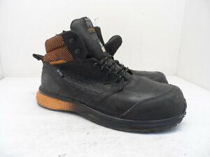 Timberland PRO Men's Mid Reaxion CT Safety Work Boot A21RU Black/Orange 10W
