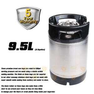 Stainless Steel Premium Rubber Handle 9.5 L BALL LOCK KEG Home Brew