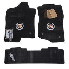 2007-2013 Cadillac Escalade EXT Floor Mats - Ebony Black - Silver Crest - USA
