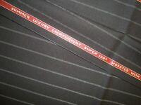 "4 yd Holland Sherry Wool SherryLight Super 120s 7 oz Luxury Suit Black 144"" BTP"