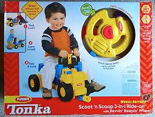 TONKA PLAYSKOOL Scoot N Scoop 3-IN-1 RIDE ON AGES 9 MONTHS-3 YEARS Progressive