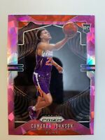 2019-20 Panini Prizm Cameron Johnson Pink Cracked Ice Rookie #257 Suns RC Holo