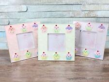 """3X3"""" Cupcake Detail Photo Frame Girls Gift choice of 3"""