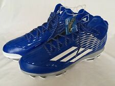 cheap for discount cf9bc f1120 Adidas Mens Baseball Cleats Size 16 Power Alley 3 Mid Royal Blue NEW