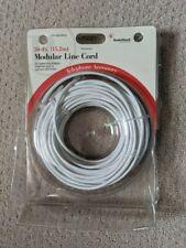 RadioShack 50-ft Telephone Line Cord Modular 4-Pin RJ -11 / RJ -14 04 -26
