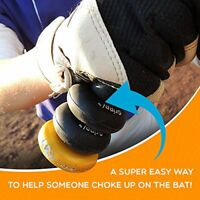 Bat Grip Choke up Rings 2-pack for Youth Baseball, Softball and Tee Ball