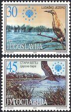 Yugoslavia 2001 Nature Protection/Heron/Stork/Lakes/Conservation 2v set (b6949)