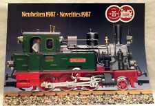 G-scale Train Garden Railway: LGB Brochure from 1986 - Neuheiten Novelties 1987