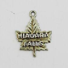 Nice Silver Maple Leaf Niagara Falls Charm