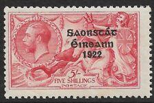 IRELAND - 5/- Rose-Carmine SEAHORSE *Overprint* *MINT HINGED* SG 65 (CV £85)