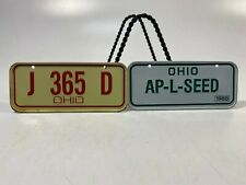 Vtg Collectible MiniBike License Plates Set of 2! State Of Ohio