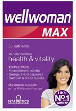 Wellwoman Max Diet Nutrition Combination Vitamins Minerals Dietary Supplements
