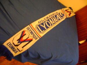 Olimpique Lyon Lyonnais scarf vintage 90'