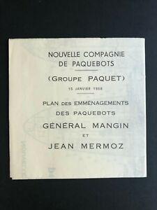 GENERAL MANGIN & JEAN MERMOZ  - COM. NAV FRAISSINET & CYPRIEN FABRE | Deck Plan