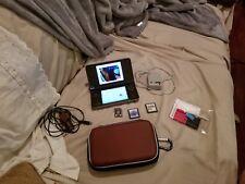 Nintendo DSi XL Bronze Handheld System + 2 games, case, 4GB CARD REPLACED BATT.