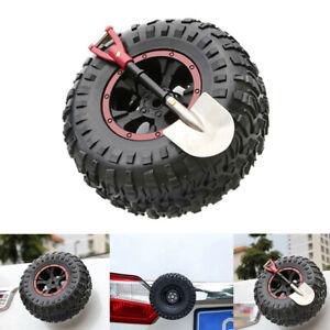 Mini Rubber Spare Small Tires+Shovel 3D Stereo Decor Sticker for Car Trunk Tail