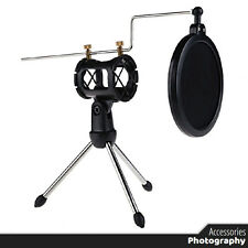 Adjustable Studio Condenser Microphone Stand Desktop Tripod for Microphone