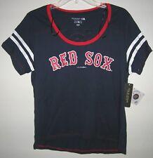 5th & Ocean Women's Retro Boston Red Sox Scoop Neck Tee T-Shirt Navy S M L New