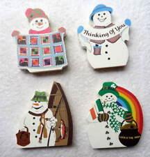Lot Of 4 Cats Cat'S Meow Snowman Snowmen Collection #3M