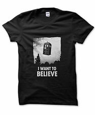 I Want to Believe Tardis t-shirt, Doctor who present, funny Dr Who nerd gift