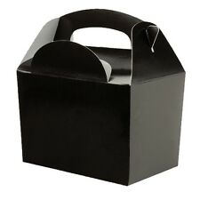 10 Black Meal Boxes ~ Wedding Favour ~ Childrens Birthday Party Food Snack Box