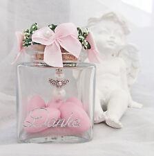 10 Glas Hochzeitsmandeln + Schutzengel im Glas Rosa Hochzeit,Danke,Gastgeschenk,