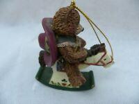 Cowboy Teddy Bear Rocking Horse Christmas Holiday Tree Ornament Resin