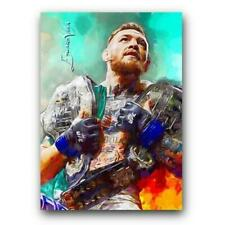 2017 SKETCH CARD PRINT CONOR McGREGOR # 4 LIMITED EDITION 8/50 ARTIST SIGNED