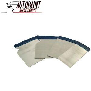 4pc Car Body Filler Spreader Application Set Flexible Metal Blades Cavity Tools