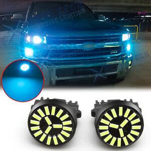 Ice Blue LED Parking Light Daytime Running Light DRL For Chevrolet Tahoe Malibu