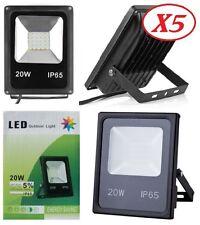 Lot de 5 LED Projecteur Lampe Etanche IP65 20W  6000K Blanc Froid