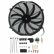 16 INCH ELECTRIC RADIATOR COOLING FAN 12v 3000cfm RELAY THERMOSTAT KIT HC
