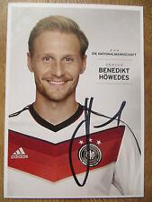 Handsignierte Autogrammkarte AK *B. HÖWEDES* DFB Nationalmannschaft  WM 2014