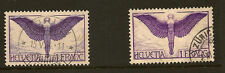 SWITZERLAND :1924/33 1 Franc reddish lilac and purple both papers  SG327+a used