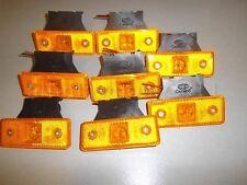 8 x AMBER Front Side Markers LED Lights Indicator Truck c/w rubber bracket 12V