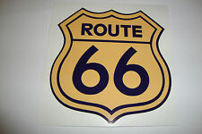 "2 x ROUTE 66  MOTORBIKE HELMET STICKERS 4"" CARS IOM TT IPAD LAPTOP MOBILEPHONE"