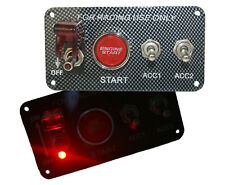 Universal 12V Ignition Engine Start Push Starter Button Panel Toggle Switch 3014