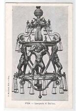 Lampada di Galileo Pisa Italy 1905c postcard