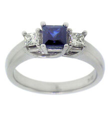 1.23ctw SAPPHIRE & PRINCESS ENGAGEMENT RING 14K GOLD
