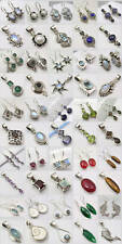 Everyday WHOLESALE LOT! SILVER EARRINGS PENDANTS SETS! 25 SETS! Engagement Stone