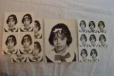 Vintage Portrait Photos Cute Girl w/ Bow in Hair 852